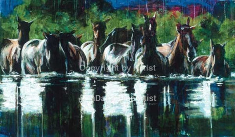 Water Crossing limited edition giclee print