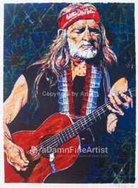 Willie Nelson Serie Series limited edition silkscreen print