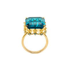 Ammanii The Blue Crown Vermeil Gold Ring