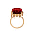 The Queen's Red Crown Ring Vermeil Gold