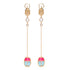 Ammanii Drop Vermeil Gold Earrings with Gemstone Scarab Amulet