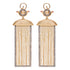 Ammanii Rectangular Shape Earrings with Pearls and Moving Tassels