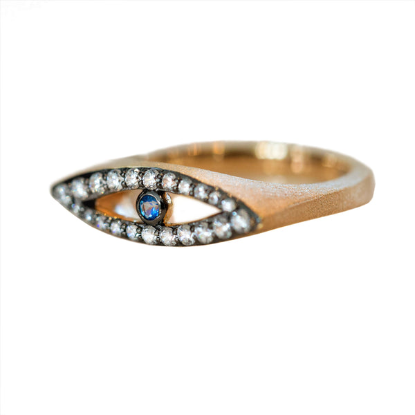 The Protective Eye Vermeil Gold Ring