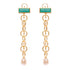 Ammanii The Rebel Queen Nefertiti Drop Links Earrings with Pearls
