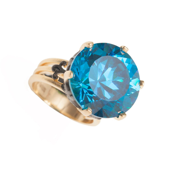 Dazzling Sa'mma Star Ring , Blue Topaz , AMMANII , Jewelry , Sterling Silver , Luxury , Handcrafted , Blue