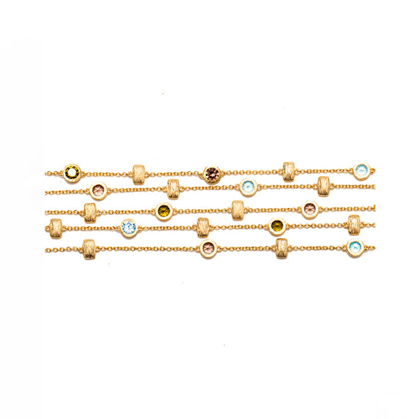 Sa'mma radiance & Colors Multiple Strand Bracelet , AMMANII , Jewelry , Sterling Silver , Luxury , Handcrafted , layered strands , multiple color , cubic zircon