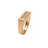 Queen Hatshepsut Vermeil Gold Ring with Pave Snake Design