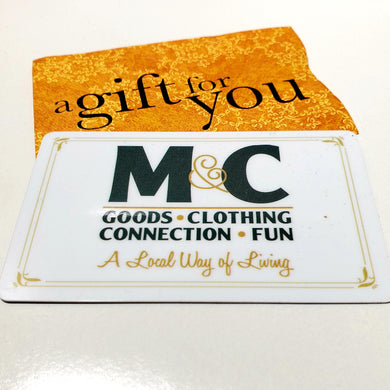 M&C gift card