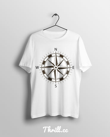 S / White Compass - Thrill Clothing