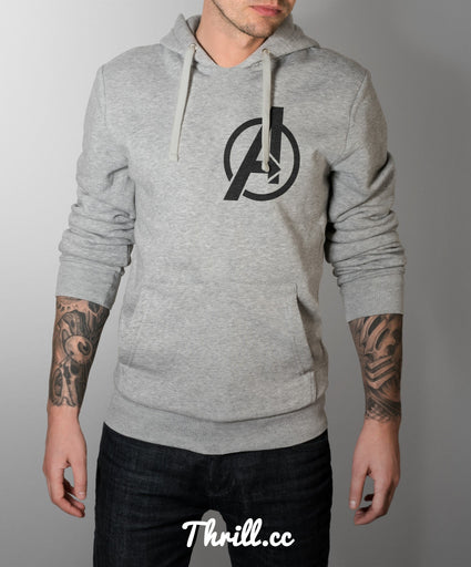 S / Grey Avenger Hoodie - Thrill Clothing