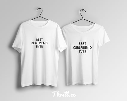 S / S / White Best Gf/BF Couples - Thrill Clothing
