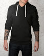 Super black Minimal Hood - Thrill Clothing