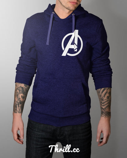 S / Blue Avenger Hoodie - Thrill Clothing