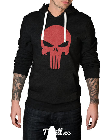 S / Black Hello Skull Hoodie - Thrill Clothing