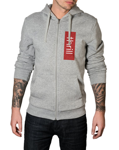 Thrill Red Zip-Up Hoodie - Thrill Clothing