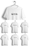 S / White Minimal Guy Weekly Tees (7 tees) - Thrill Clothing
