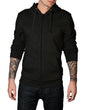 S / Black Super minimal Zip-Up Hoodie - Thrill Clothing