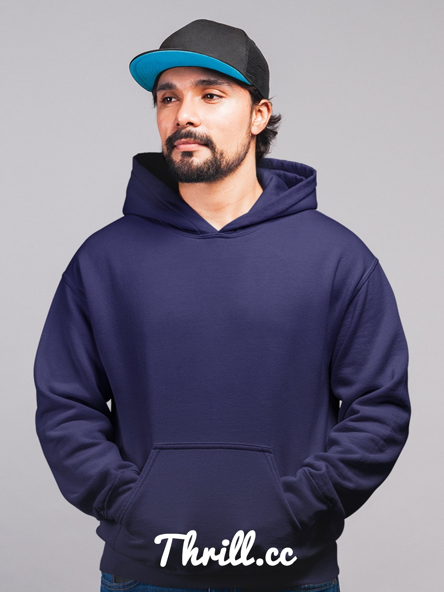 Super Blue Hoodie - Thrill Clothing