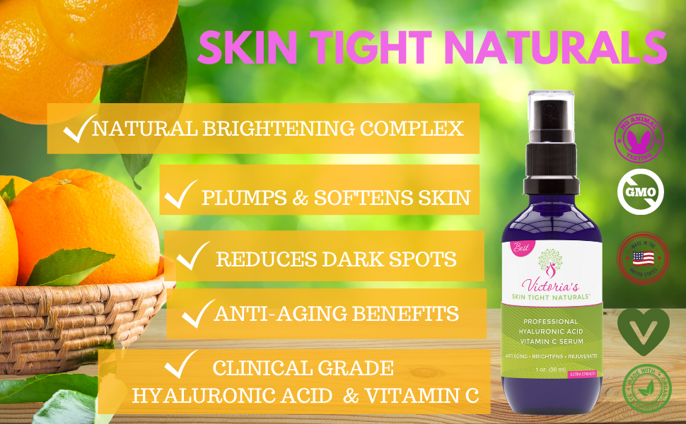 vitamin c hyaluronic acid dark spots, sun damage, wrinkles, eye bags