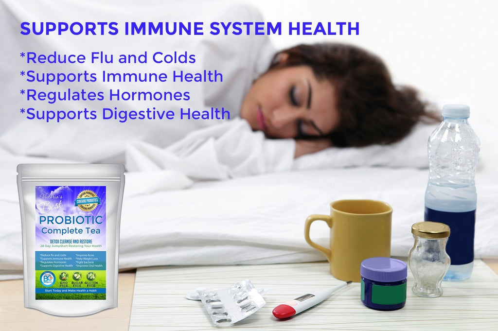 beat cold flu Best Probiotic Gut Health Detox Tea 28 Day Weight Loss constipation