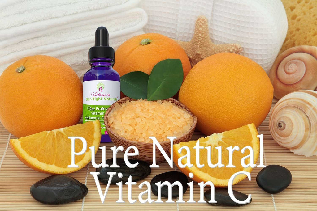 organic skincare natural vitamin C serum plus hyaluronic acid 20%