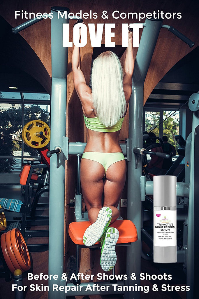 Bikini Compeitior Fitness Model SKin TIghtening Serum