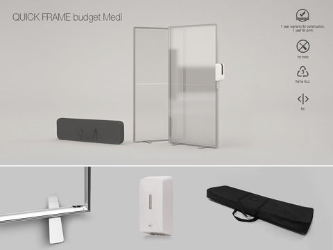Budget Covid Screen (Free standing) - iQ AdSystems