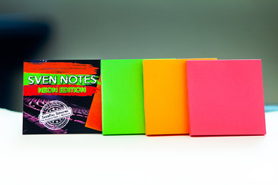 Sven Notes - NEON EDITION (3 Neon Sticky Notes Style Pads)