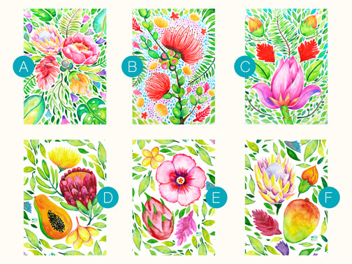 Tropical Blooms (11x14 mat frame)