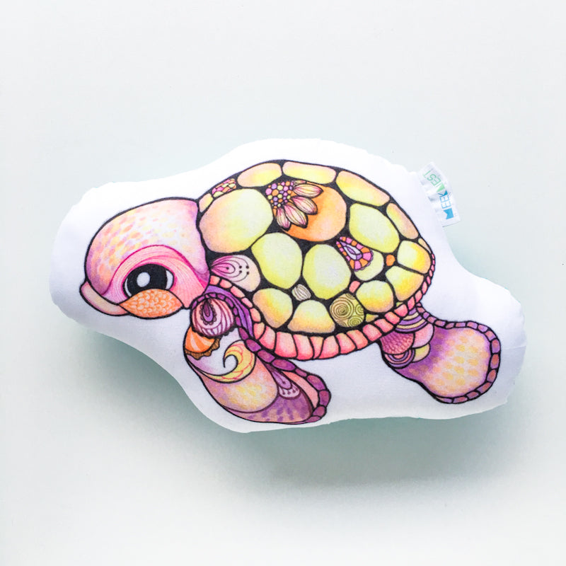 Pillow Doll Pink Turtle