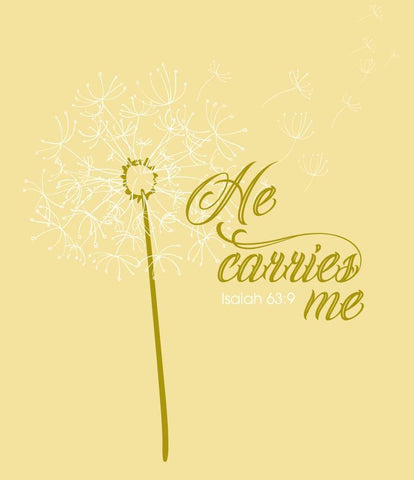 He Carries Me --- Isaiah 63:9 - Lewey's