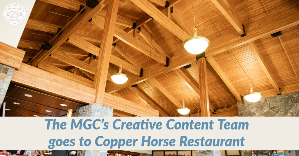 The Montana Gift Corral's Creative Content Team goes to Copper Horse Restaurant