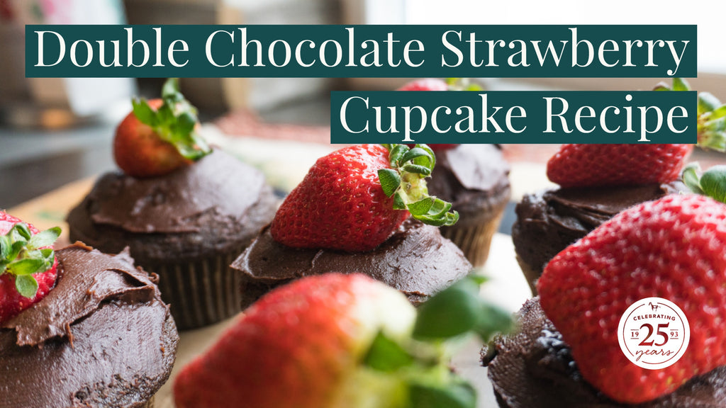 easy double chocolate strawberry cupcake recipe