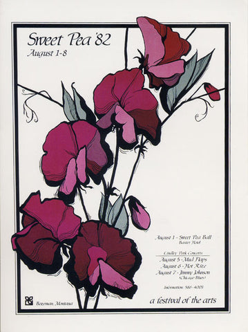 One of the early Sweet Pea Festival posters
