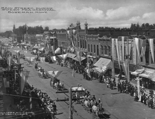 Sweet Pea Carnival in the early 1900s