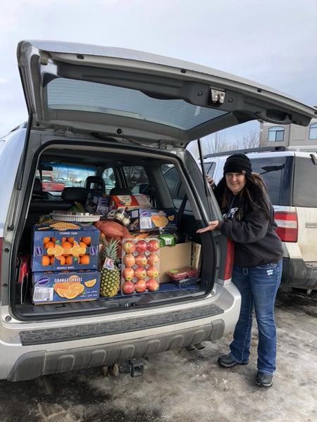 Montana Gift Corral donating food to Montana Grizzly Encounter