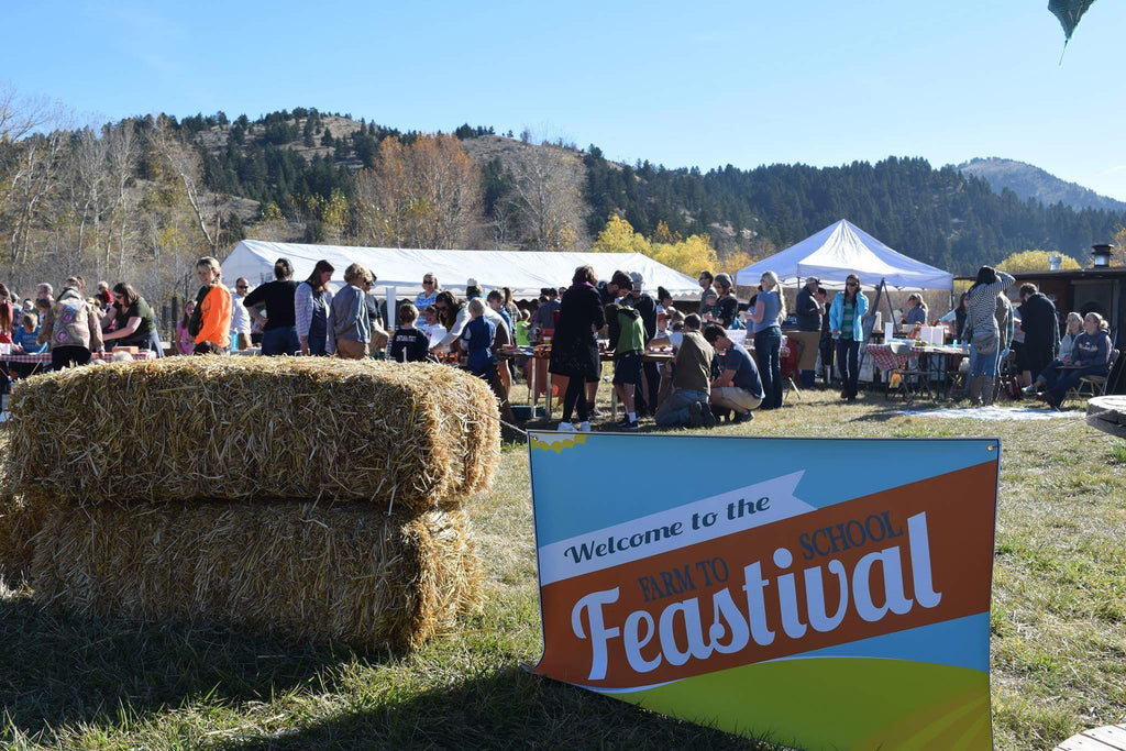 6th annual farm to school feastival at rock creek farm in Bozeman MT
