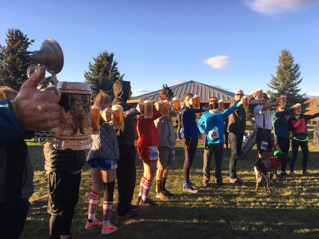 Oktoberfest 8k hosted by Bozeman Running Company