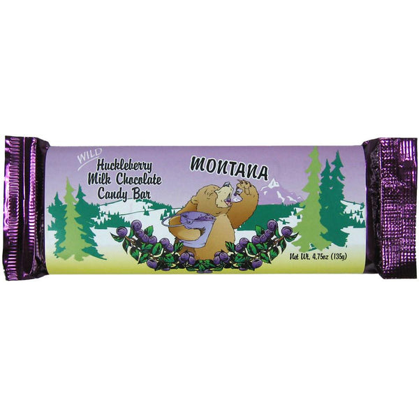 Huckleberry Milk Chocolate Candy Bar by Huckleberry Haven