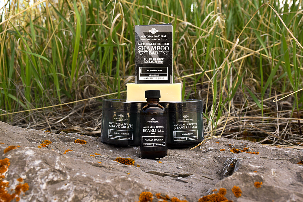 Beard Oil and Shave Cream and Shampoo Bar by Montana Natural DAYSPA on 10 Montana Gifts for Dad