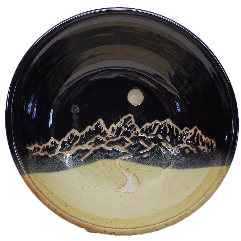 Black Serving Bowl by Fire Hole Pottery