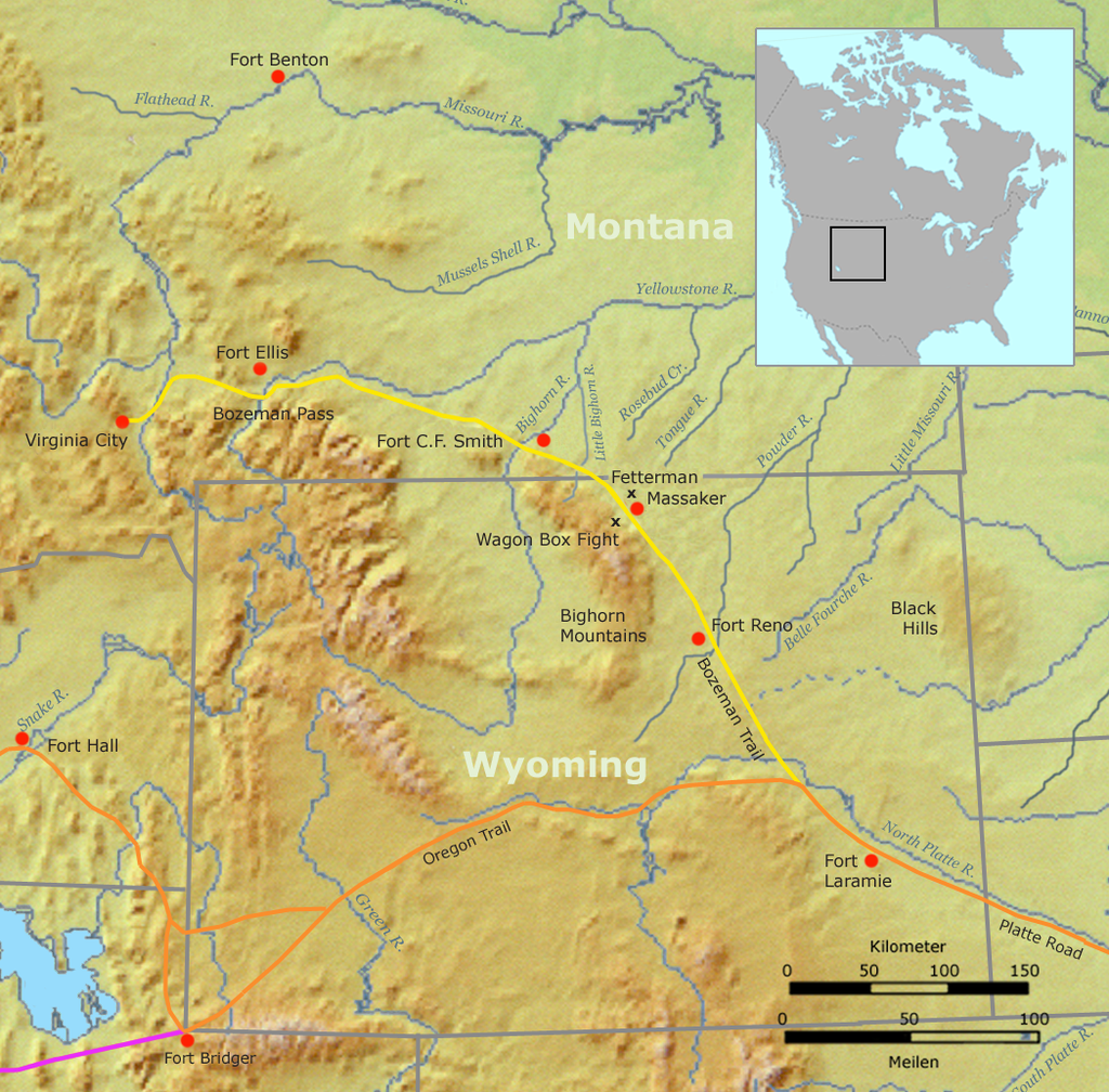 Route of the Bozeman Trail