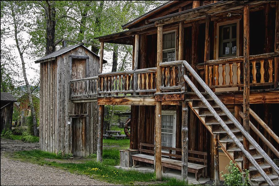 Nevada City Montana Two Story Outhouse
