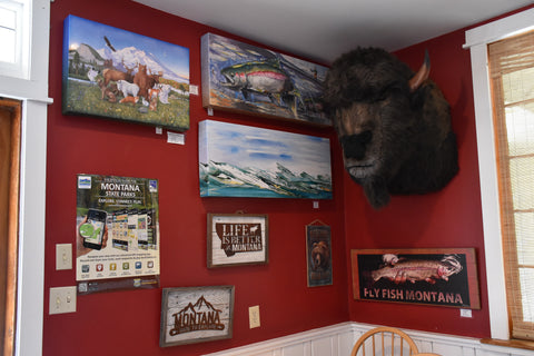 Lewis and Clark Caverns State Park in Whitehall Montana with Buffy the Grumpy Buffalo at Montana Gift Corral