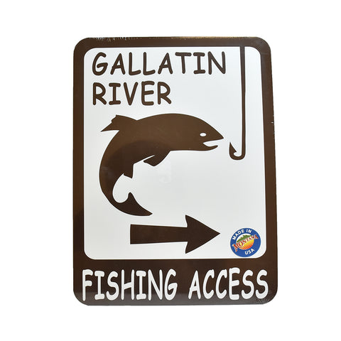 Gallatin Fishing Access by Signs of the Mountains at Montana Gift Corral