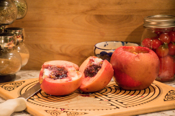 Baked Stuffed Apples for Fall Recipes and Halloween