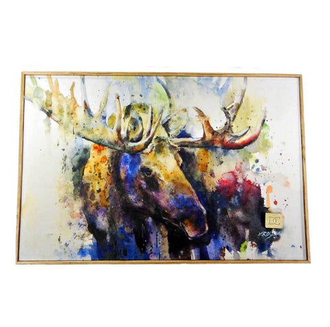 Marsh Bull Moose Wall Art by Dean Crouser