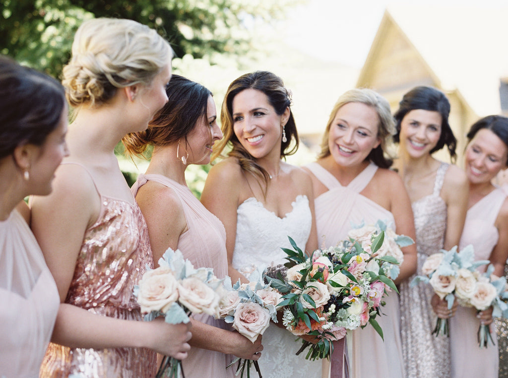 Bridesmaids with beautiful hair and makeup