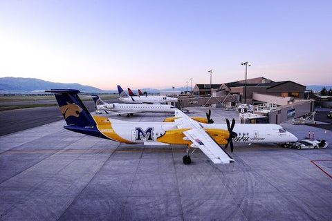 Montana State University Airplane at Bozeman Yellowstone International Airport featured at Montana Gift Corral