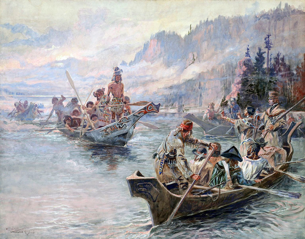 Lewis and Clark on the Columbia